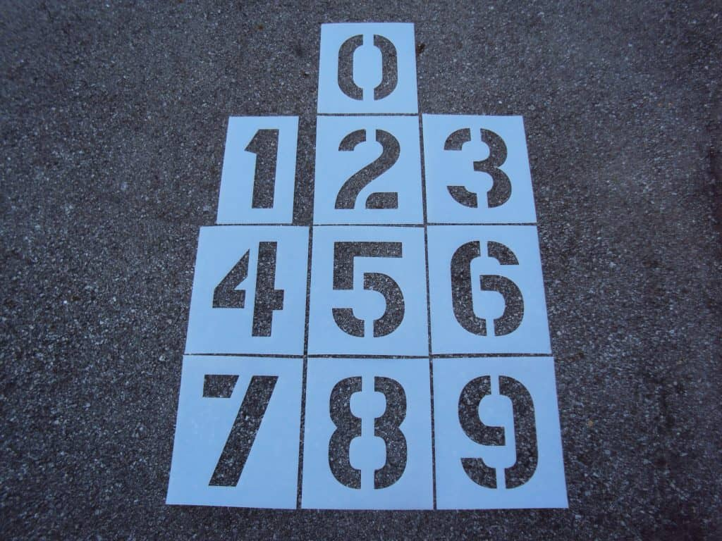 חיתוך שבלונות מספרים בלייזר