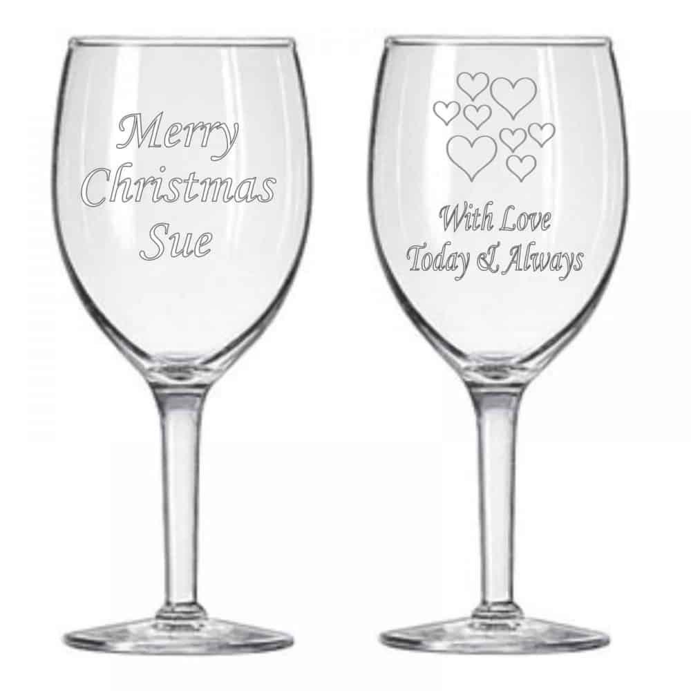 חריטה על כוסות זכוכית