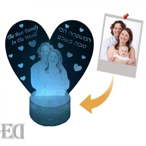 מנורת לילה לד לחדר שינה מתנות ליום האהבה עיצוב מעוצב מתנה לגבר מתנה לאישה-1