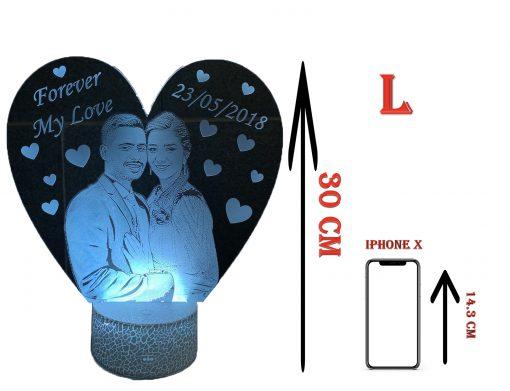 מנורת לילה לד לחדר שינה מתנות ליום האהבה עיצוב מעוצב מתנה לגבר מתנה לאישה-2