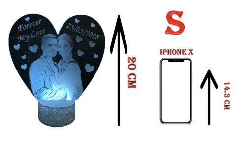 מנורת לילה לד לחדר שינה מתנות ליום האהבה עיצוב מעוצב מתנה לגבר מתנה לאישה-3