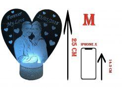 מנורת לילה לד לחדר שינה מתנות ליום האהבה עיצוב מעוצב מתנה לגבר מתנה לאישה-4