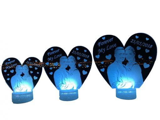 מנורת לילה לד לחדר שינה מתנות ליום האהבה עיצוב מעוצב מתנה לגבר מתנה לאישה-5