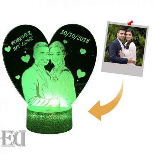 מנורת לילה לד לחדר שינה מתנות ליום האהבה עיצוב מעוצב מתנה לגבר מתנה לאישה-6