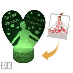 מנורת לילה לד לחדר שינה מתנות ליום האהבה עיצוב מעוצב מתנה לגבר מתנה לאישה-7