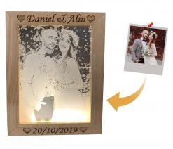 מנורת לילה מתנה ליום האהבה מתנה לגבר שיש לו הכל מסגרת לד-3