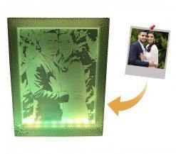 מנורת לילה מתנה ליום האהבה מתנה לגבר שיש לו הכל מסגרת לד-4